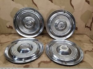 4 1954 1955 Oldsmobile 15 Wheel Hub Cap Oem Olds 54 55