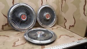 3 1965 Mercury Monterey And Park Lane 15 Inch Wheel Hub Caps Oem
