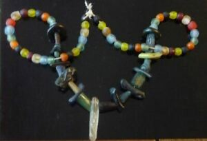 Ancient Roman Lovely Mixed Color Glass Bead Fragment Africa Necklace 1st Cen