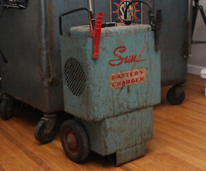 Vintage Sun Service Equipment Bc 80 Battery Charger On Wheels Will Ship