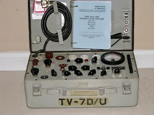 Military Tv 7d u Mutual Conductance Tube Tester Calibrated