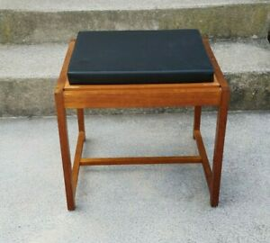 Vintage Mid Century Danish Modern Erik Buch For Mobler Teak Ottoman Table Stool