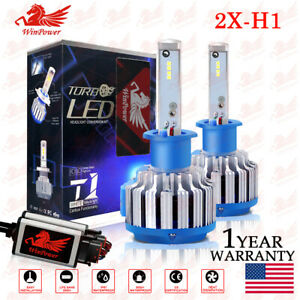Cree H1 Led Headlight Bulb 70w 6000k 7200lm Hi Lo Beam Fog Light Conversion Kit