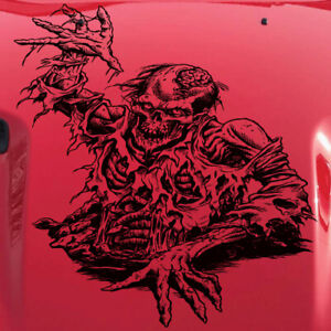 Zombie Skull Brain Side Tailgate Hood Vehicle Decal Suv Truck Car Vinyl Sticker