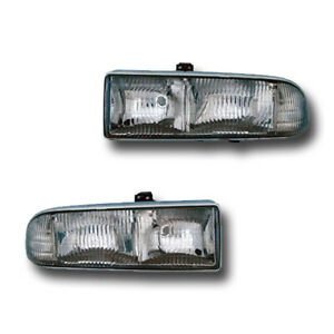 Fits 1998 2005 Chevrolet Blazer S10 Driver Passenger Headlight Assembly 1 Pair