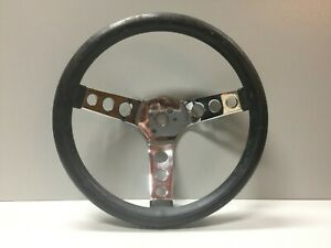 Vintage Superior Products 11 5 Black Rubber Chrome Low Rider Steering Wheel