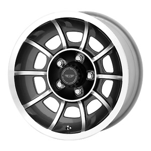 15x7 American Racing Vn47 Anthracite Machined Wheels Blank 0mm Set Of 4