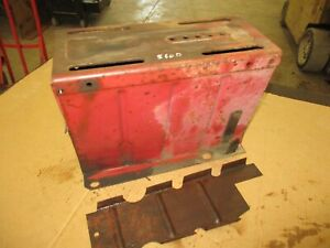 Ih Farmall 560 460 Seat Base With Lid And Tool Box Tray Nice Antiquetractor