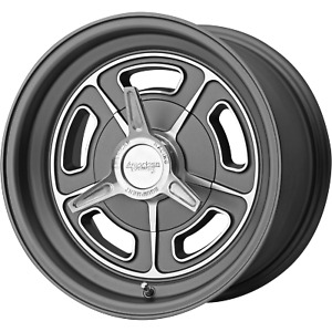 15x5 American Racing Vn502 Mag Gray Wheels Blank 12mm Set Of 4