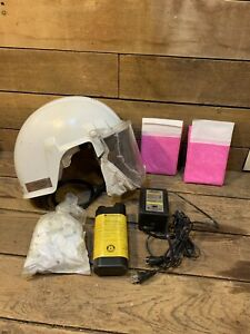 3m Airstream Headgear mounted Powered Air Purifying Respirator Papr System Used