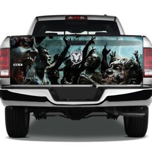 Zombies Walking Dead Reaching Graphic Wrap Tailgate Vinyl Decal Truck Pickup