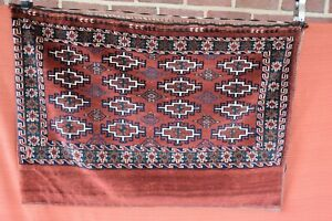 Genuine Older Turkoman Saddle Bag Hand Knotted Rug 3 6x2 6
