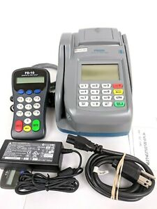 First Data Fd200 Retail Pos Credit Card Reader Terminal W Fd10 Pin Pad