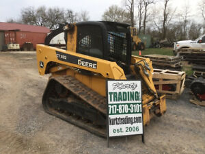 2008 John Deere Ct332 Compact Track Skid Steer Loader W Cab High Flow