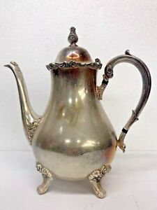 Webster Wilcox I S International Silver Co American Rose 7301 Coffee Teapot