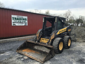 2008 New Holland L170 Skid Steer Loader W Cab Only 2600 Hours