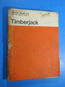 Timberjack Skidder 240 Parts Manual 800001 Up