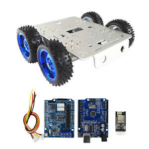 Car Tank Chassis Kit Control Kit 4wd Motors For Arduino Free Tools