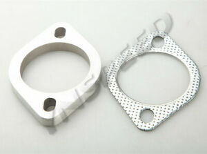 3 2bolt Exhaust Flange And Exhaust Gasket For 2 Bolt Exhaust Flange Us Ship