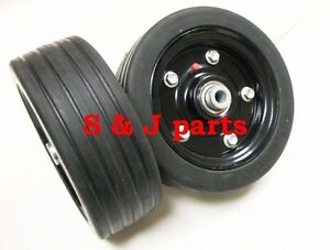 Maschio Replacement Finish Mower Wheel solid Molded Tire 1 2 Axle 00556647