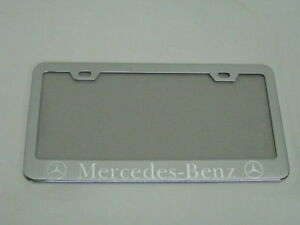 Mercedes Benz Mirror Stainless Steel License Plate Frame Tag W S Caps Sb