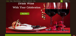 Established Profitable Wine Shop Online Business Turnkey Website