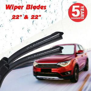 22 22 Inch Bracketless Windshield Wiper Blades All Season J Hook Oem Quality