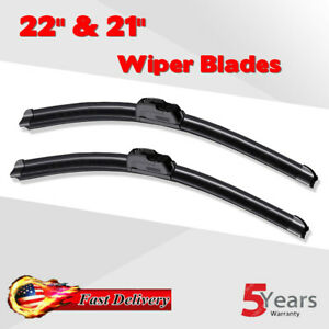 22 21 Bracketless Windshield Wiper Blades All Season Premium Oem Quality New