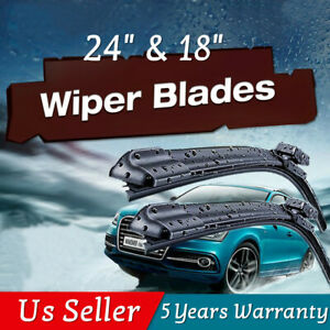 24 18 Windshield Wiper Blades Bracketless Oem Quality All Season Premium Usa