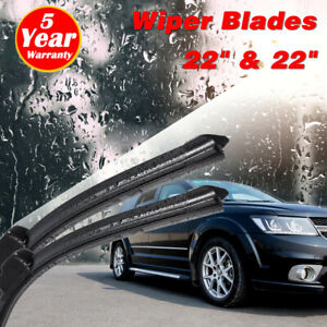 22 22 Inch Bracketless J Hook Windshield Wiper Blades All Season Oem Quality