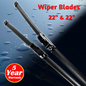 22 22 Windshield Wiper Blades High Quality Beam Premium Hybrid Silicone J hook