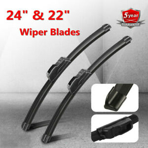 24 22 Premium Hybrid Silicone Windshield Wiper Blades High Quality J Hook Se
