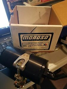 Moroso 65232 In line Fuel Filter 8 With Mounting Clamp Hose And Fittings
