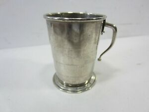 Antique Silverplated German Collaspible Cup With Handle