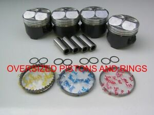Oversized Nippon Racing Full Floating Honda Civic Type R Pistons Kit Ctr B16b