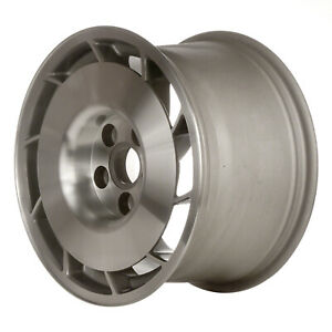 01347 10 Slot 16 Inch Left Directional Wheel Silver Machined With Machined Hub