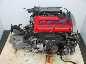 Jdm 88 92 Mitsubishi 4g61t Mirage Lancer 1 6l Turbo Engine 5 Speed Transmission