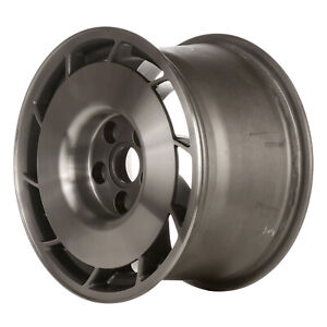 01347 10 Slot 16 Inch Right Directional Wheel Charcoal Machined W Painted Hub