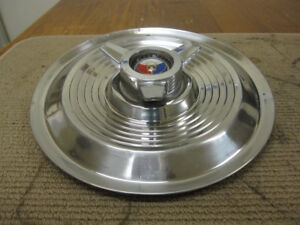 1963 64 Ford Galaxie 500 Xl 406 427 15 Spinner Hubcap Red White Blue Crest