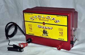 Cyclops Super Battery Powered 12 Joule 12 V Electric Fence Charger