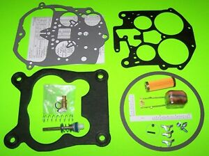Rochester Quadrajet Carburetor Rebuild Kit W Brass Float Filter 85 89 Chevy