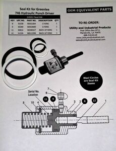 Seal Kit Greenlee 14552 for 746 Hydraulic Punch Driver
