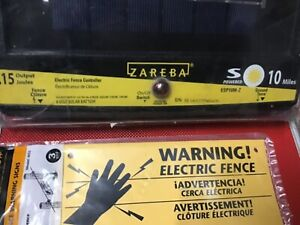 Zareba Esp10m z 10 mile Solar Low Impedance Electric Fence Fence Charger Signs