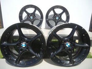 2003 2008 Set Of 4 Factory Bmw Z4 Staggered 18 Wheel Rims P n 6758194 6758195