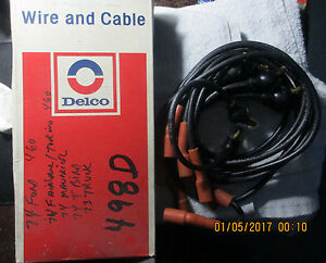Ford Vintage Delco Ignition Cables Spark Plug Wire Set Ford 460 T Bird Torino