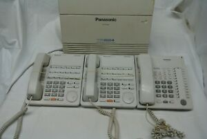 Panasonic Kx ta824 Business Class Advanced Hybrid Phone System With 3 Phones