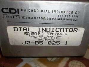 Chicago Dial Indicator Co J2 b5 025 1 Lathe Dial Indicator Full Jeweled Usa
