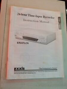 Exxis 24 Hour Time Lapse Security Recorder Vcr Model Er24tlcn No Remote