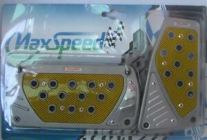 Maxspeed Universal Pedal Cover 06 557ay Silver Yellow Automatic 2pcs Set
