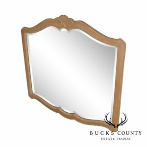 Ethan Allen French Country Maple Frame Beveled Mirror